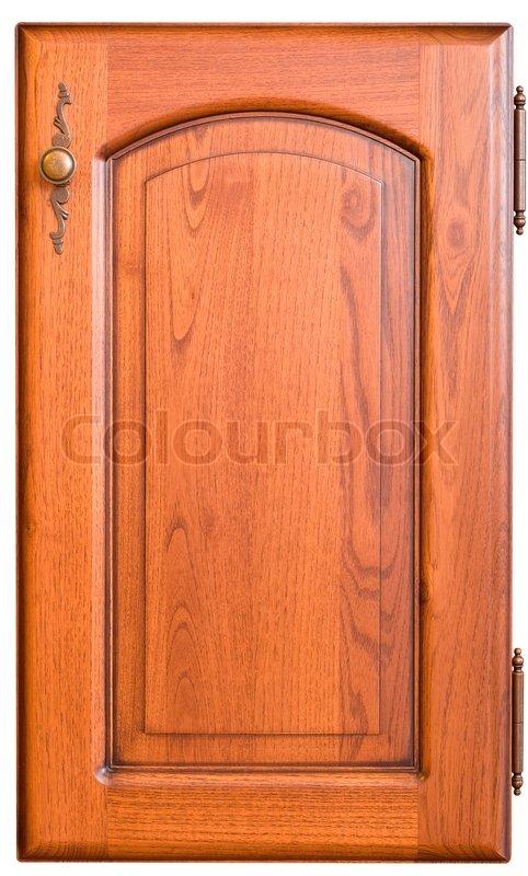 & Wooden furniture door with handle   Stock Photo   Colourbox