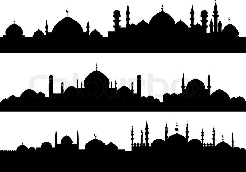 Muslim Cityscapes Stock Vector Colourbox
