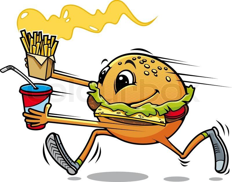 ... Einladung Essen Gehen. Hamburger Ausgeführt Stock Vektor Colourbox