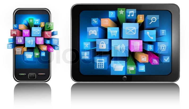 Mobile Tablet Icon Mobile Phone And Tablet pc