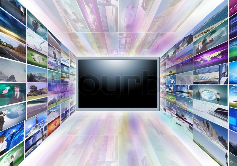A flat screen television, stock photo