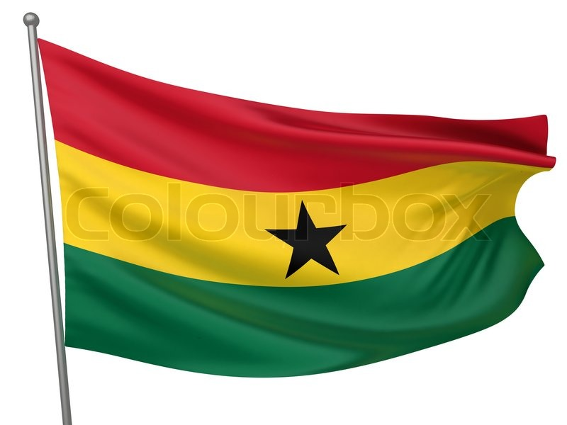 Stock image of 'Ghana National Flag'