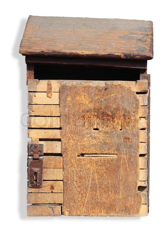 vintage holz dropbox mit beschneidungspfad stock foto colourbox. Black Bedroom Furniture Sets. Home Design Ideas