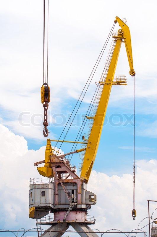 Harbor Freight Gantry Crane >> Port crane boom | Stock Photo | Colourbox