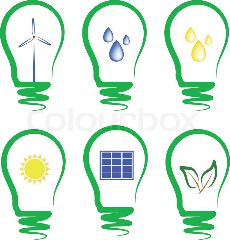 Konzept Symbolisiert Die Alternative Energie
