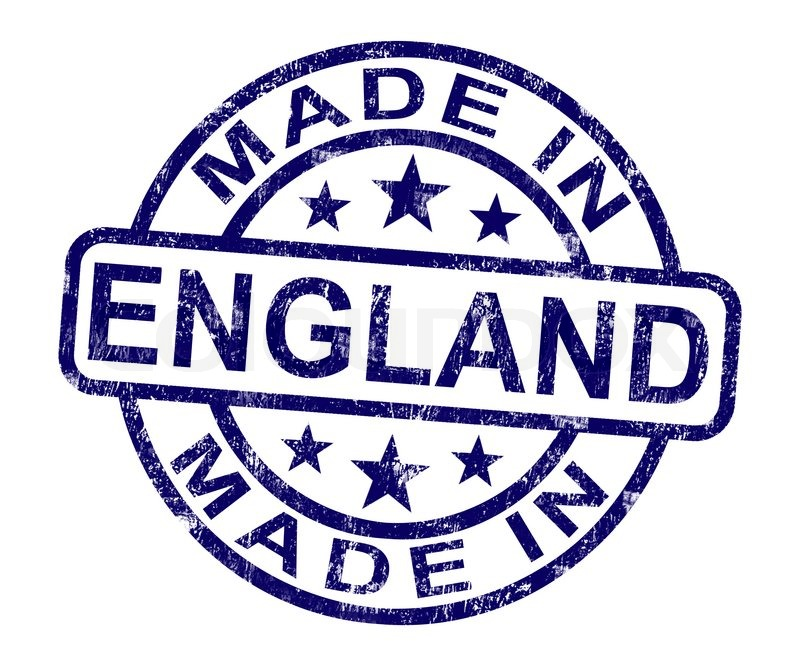 made in england stamp shows english product or produce stock photo colourbox. Black Bedroom Furniture Sets. Home Design Ideas