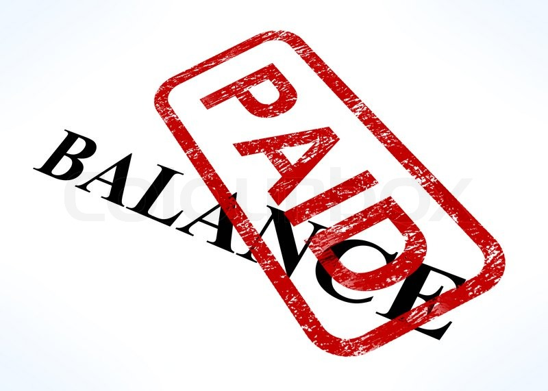 balance paid stamp shows bill payment made stock photo english bill of rights clipart Bill of Rights Cartoons