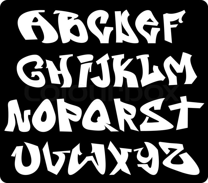 Alphabet Im Graffiti Stil Vektorgrafik Colourbox