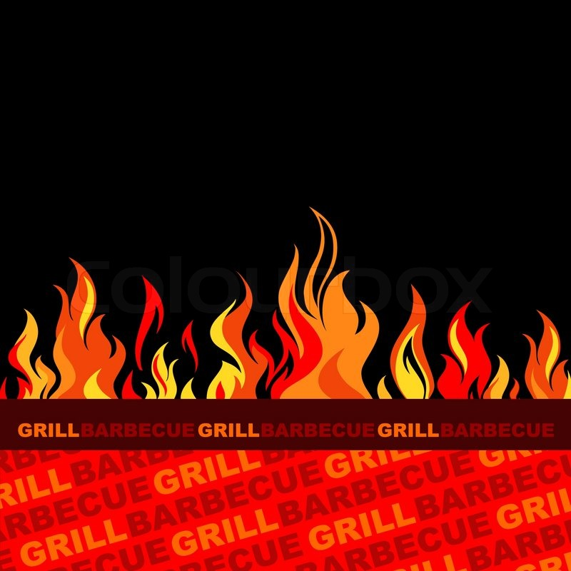 Barbecue And Grill Background Stock Vector Colourbox