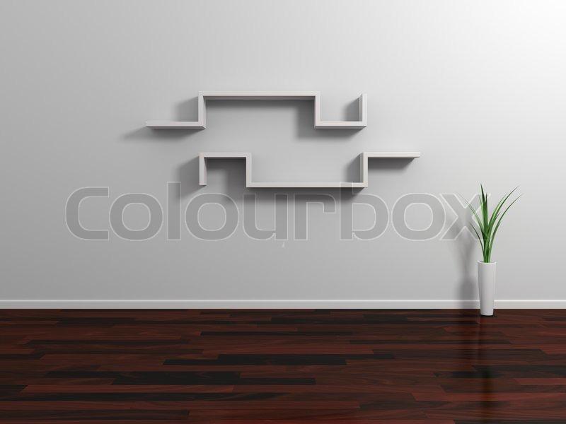Moderne Regale modern shelves stock photo colourbox
