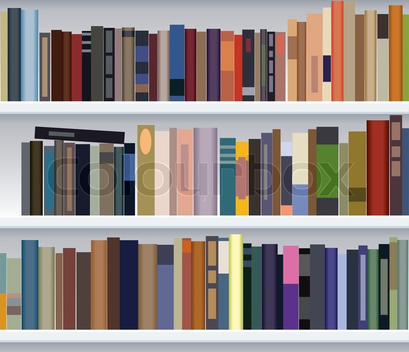 Vector Modern Bookshelf Stock Vector Colourbox