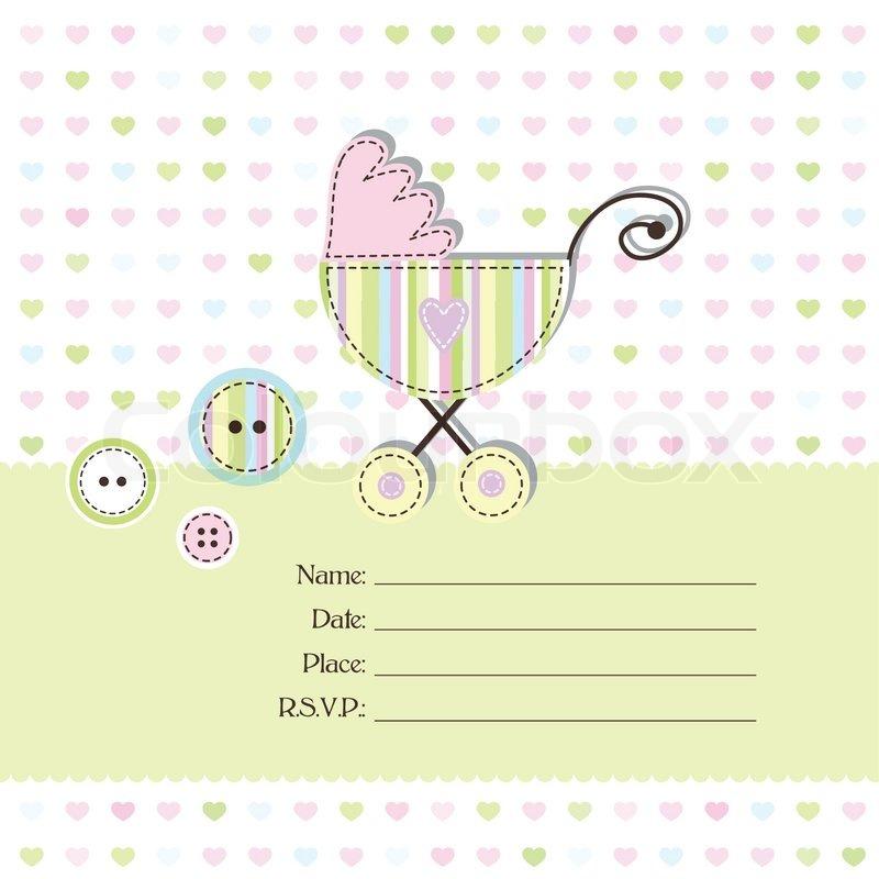 Baby shower invitation stock vector colourbox baby shower invitation vector stopboris Choice Image