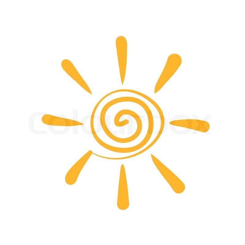 Sun Abstract Symbol Stock Vector Colourbox