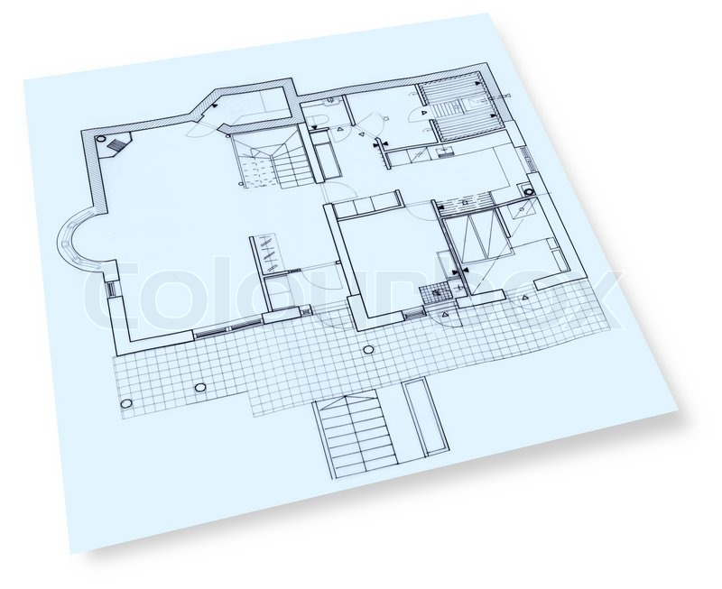 House construction drawings blueprint stock photo colourbox malvernweather Image collections