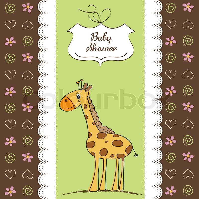 Baby Shower Wiki: New Baby Shower Card With Giraffe