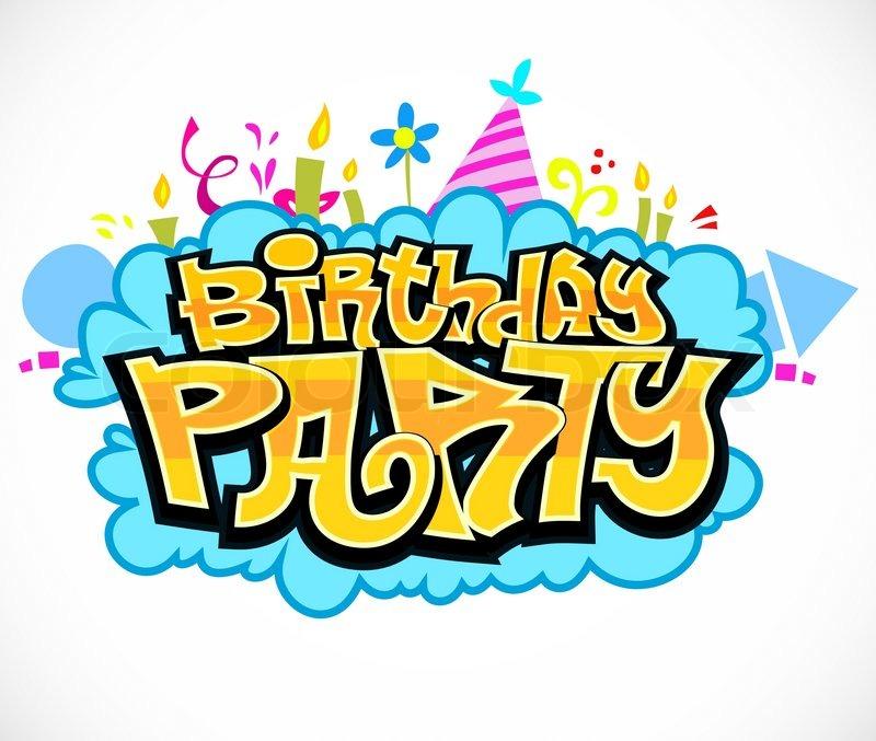 birthday party | stock vector | colourbox, Einladung