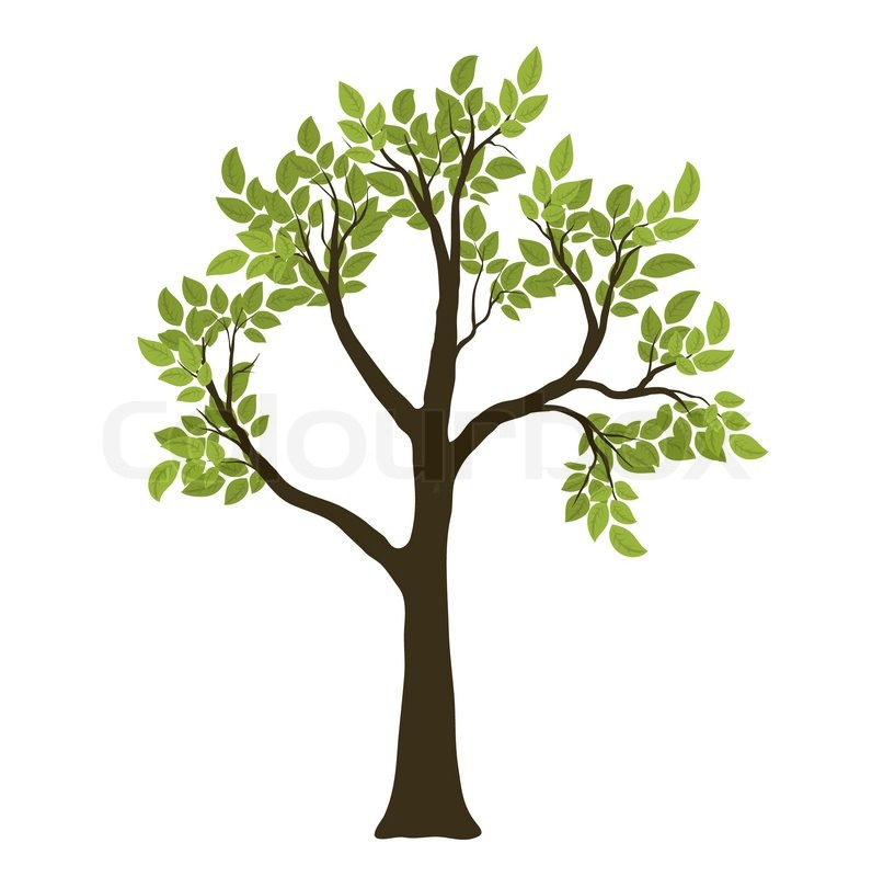 green vector tree nature symbol stock vector colourbox Family Clip Art Black and White face painting clip art black and white