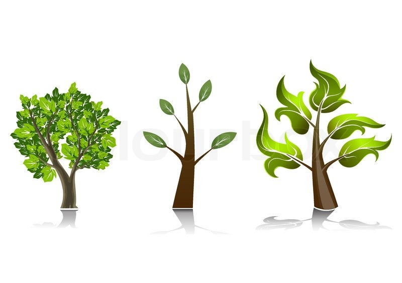 Tree Symbols Set Stock Vector Colourbox
