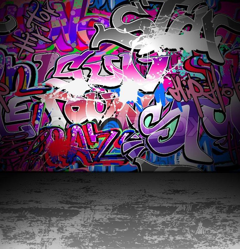 Graffiti Wall Urban Street Art Stock Vector Colourbox