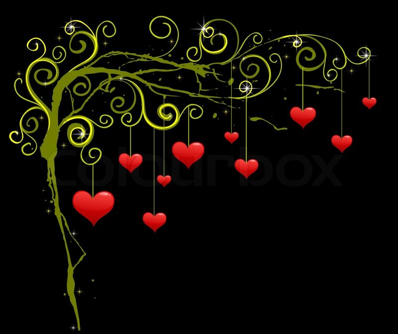 Beautiful Love Picture on Vector Of  Abstract Background With Red Hearts Love Graphic Design