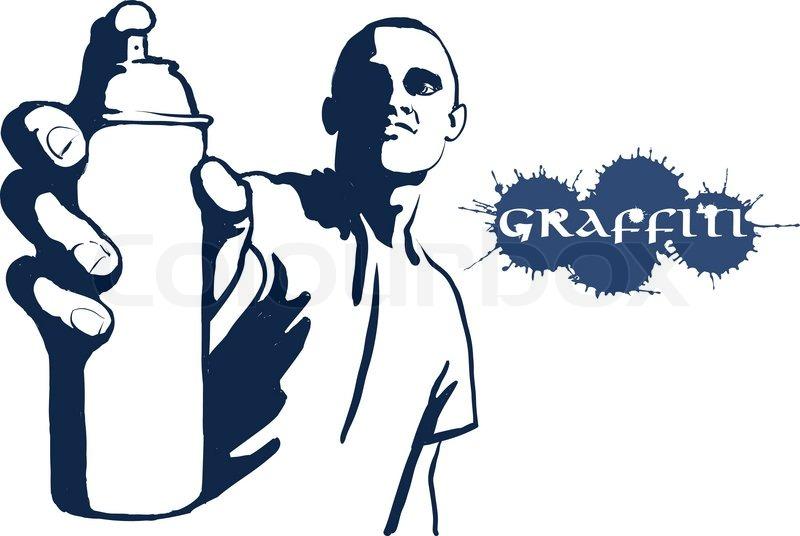 urban person painting graffiti stock vector colourbox rh colourbox com