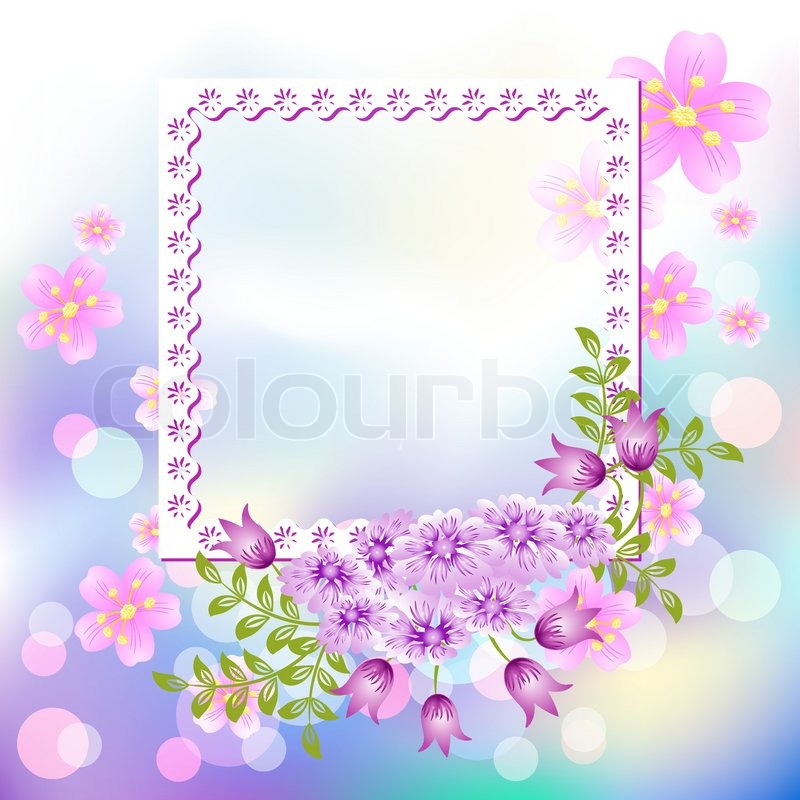 Design photo frames with flowers | Stock Vector | Colourbox