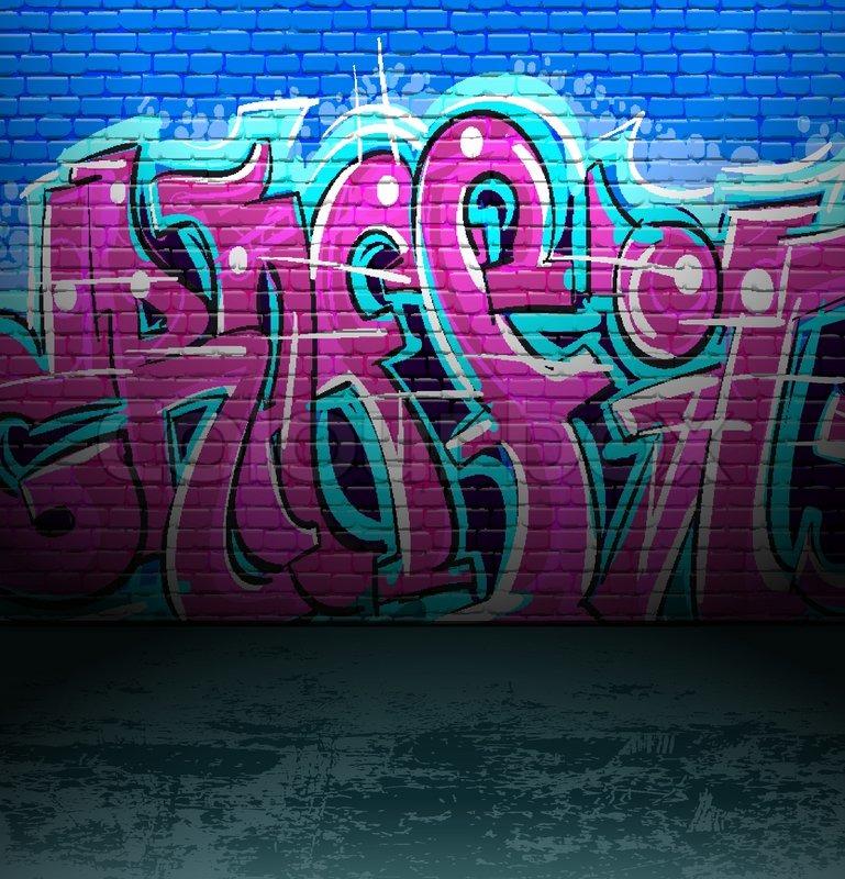 Extraordinaire Graffiti wall urban street art | Stock vector | Colourbox DV-44