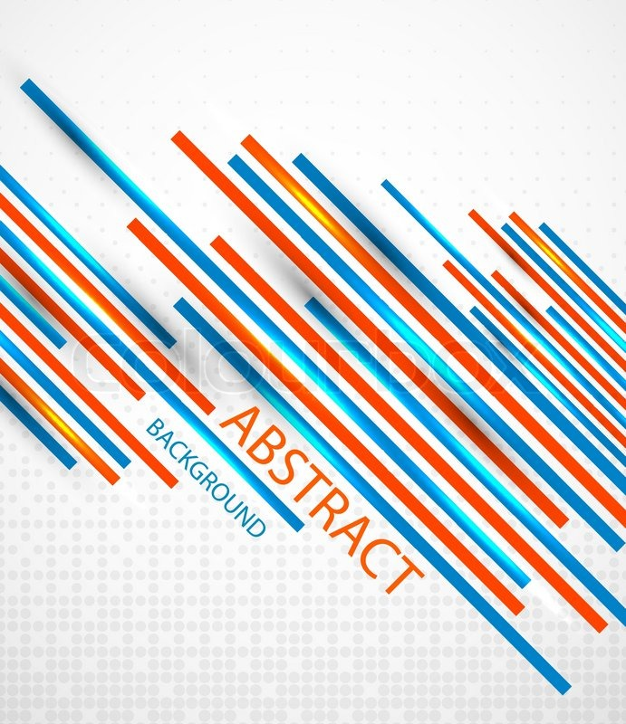 Vector Abstract Striped Background With Sample Text