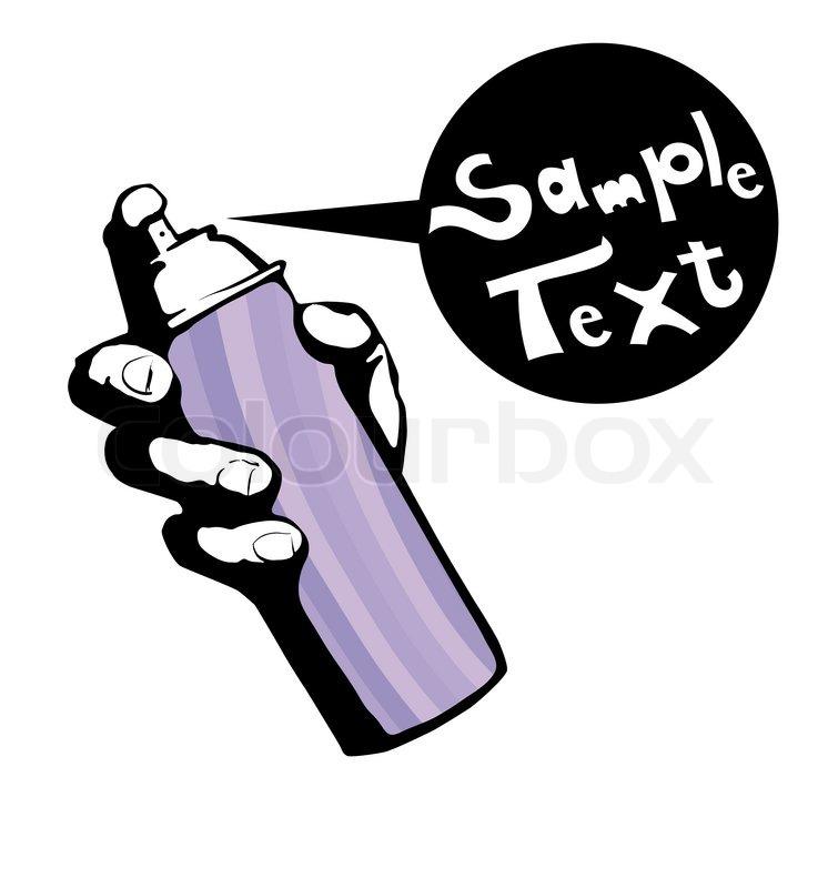 graffiti spray can stock vector colourbox rh colourbox com