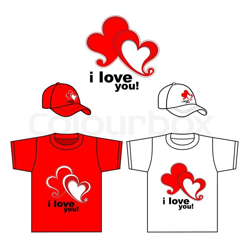 Valentine S Day Design T Shirt T Shirt Design Stock Vector