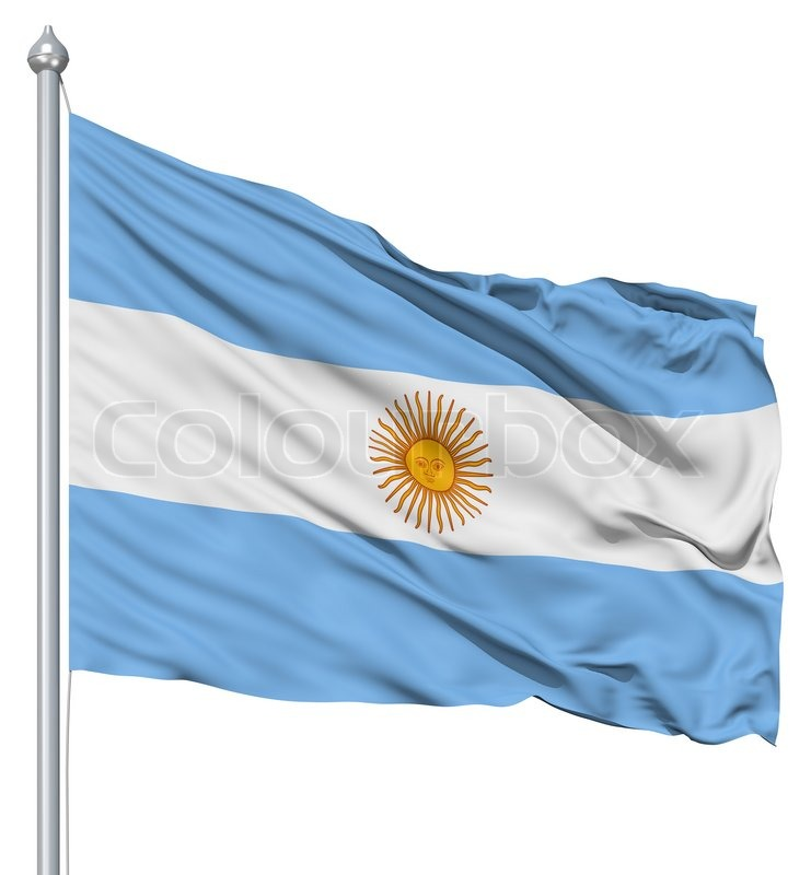 Waving Flag Of Argentina Stock Photo Colourbox