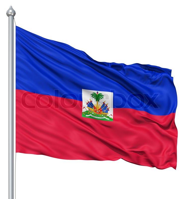 Waving Flag Von Haiti