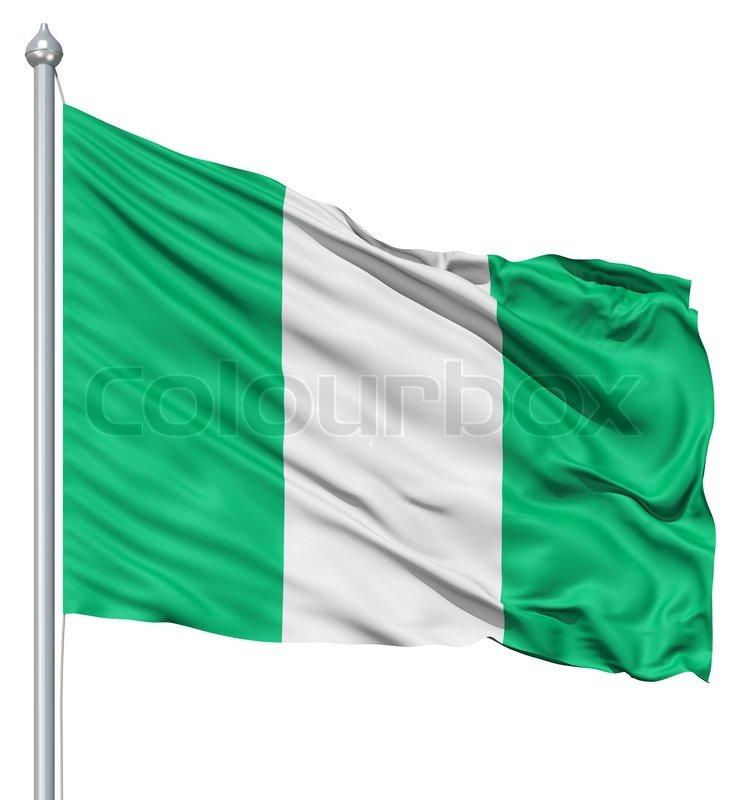 waving flag of nigeria | stock photo | colourbox