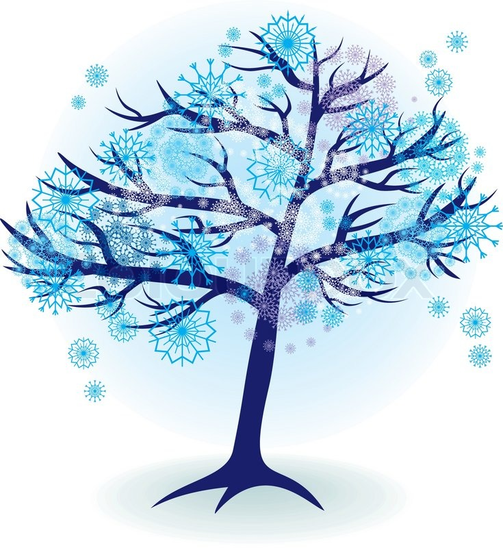 Season Tree For Winter With Snowflakes Stock Vector Colourbox Make social videos in an instant: season tree for winter with snowflakes