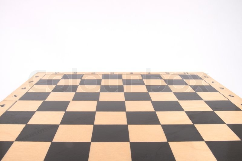 Wooden Chess Board Stock Photo Colourbox