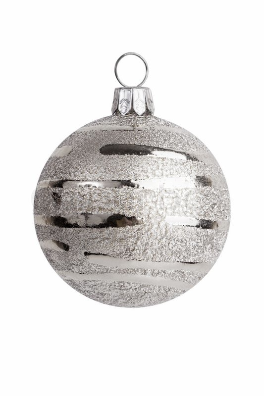 christmas decoration silver ball decorations stock photo - Silver Christmas Decorations