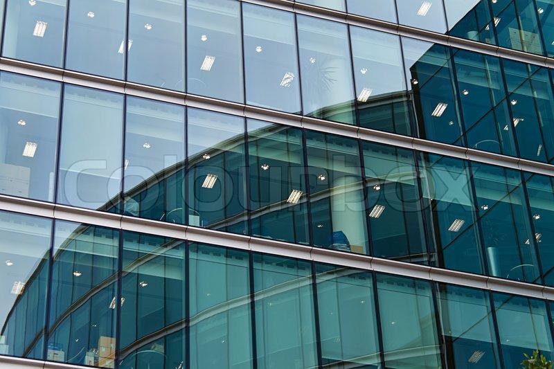 Facade of a modern office building stock photo colourbox for Modern office building facade design