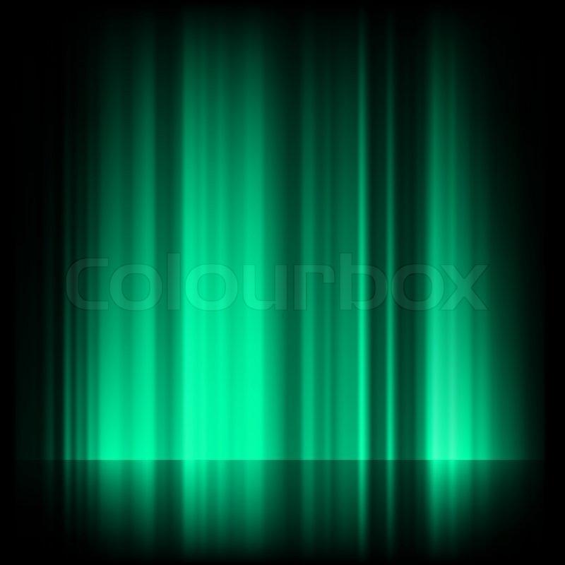 Green blue northern lights, aurora borealis EPS 8 | Stock ...