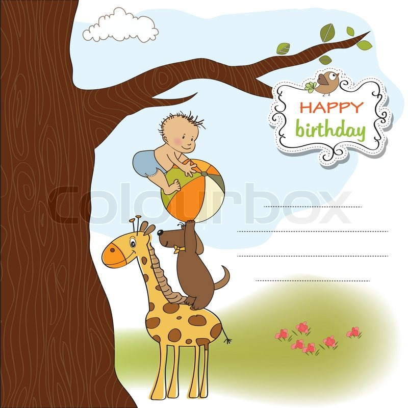 Funny cartoon birthday greeting card stock vector colourbox m4hsunfo