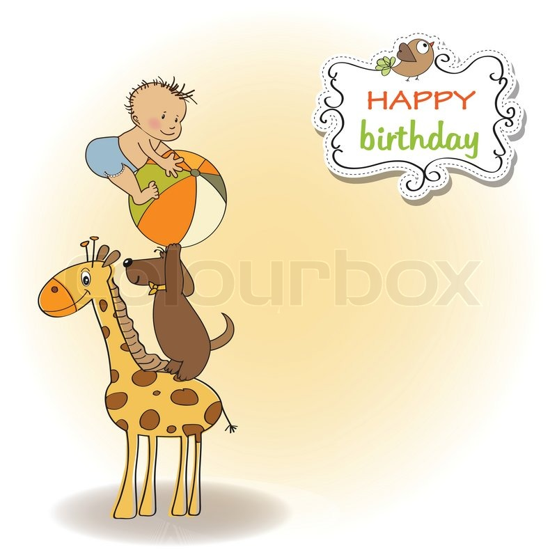 Funny cartoon birthday greeting card Vector – Cartoon Birthday Greetings