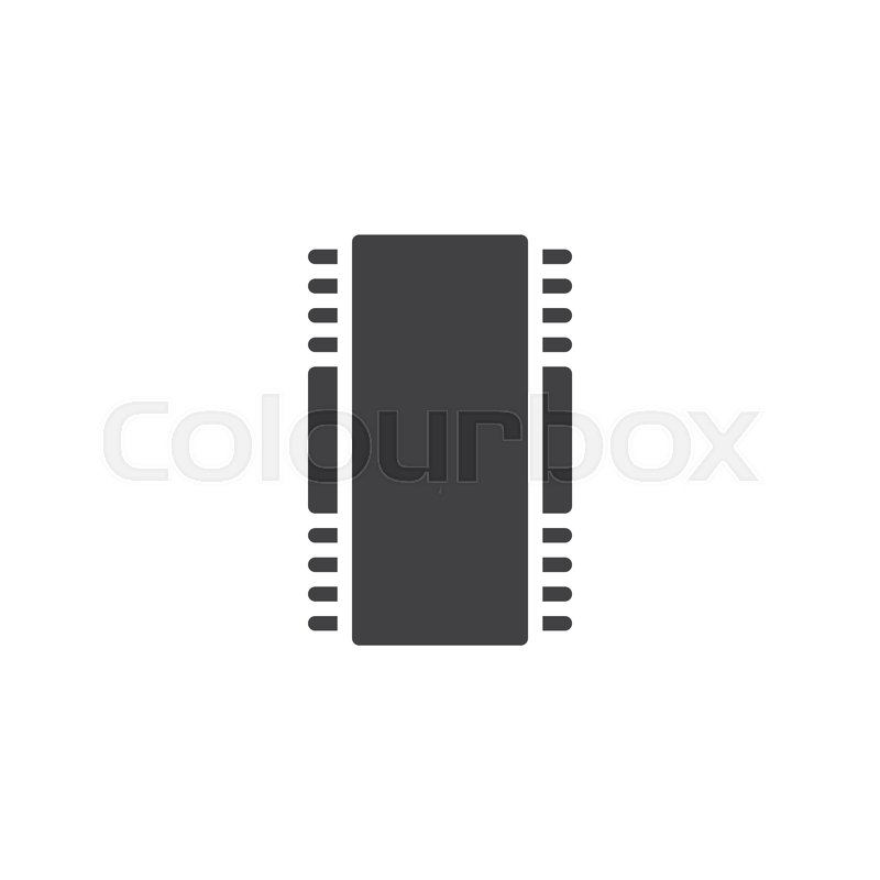 Electronic Chip Vector