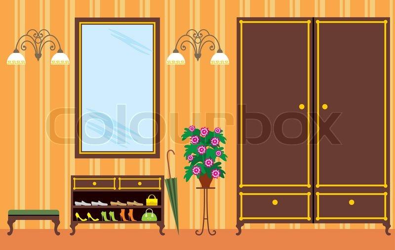 Eingangshalle in wohnung vektorgrafik colourbox for Meine wohnung click design download