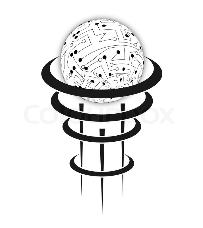 vector circuit board sphere eps10 illustration