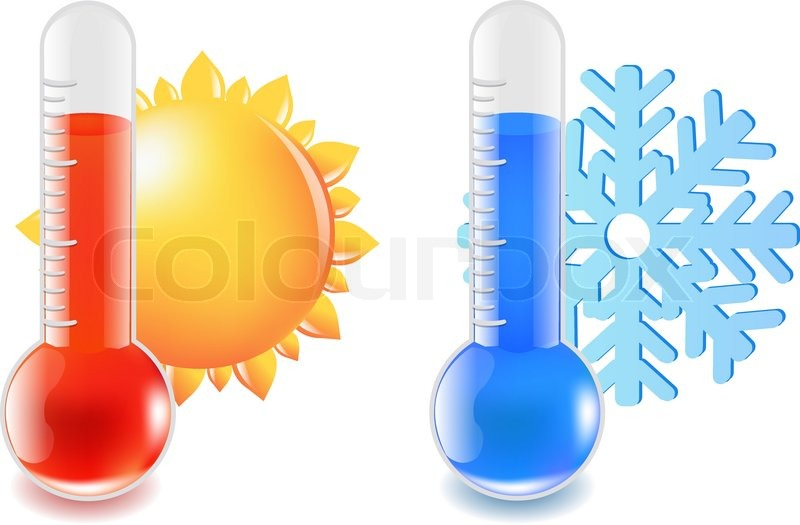 Stock Vector Of Thermometer Hot And Cold Temperature