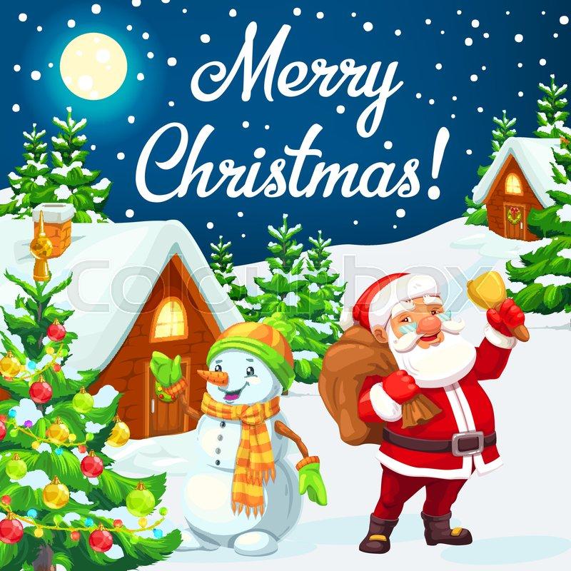 Merry Christmas Vector Design Of Santa Stock Vector Colourbox