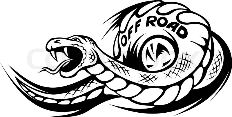 Offroad Snake Tattoo Stock Vector Colourbox
