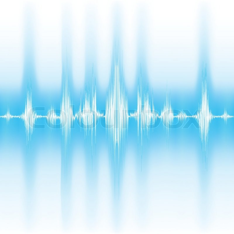 sound waves on white background stock vector colourbox