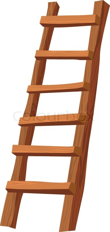 Wooden Ladder Stock Vector