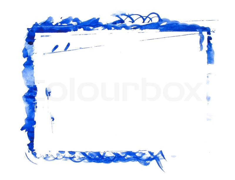 Blue paint frame | Stock Photo | Colourbox