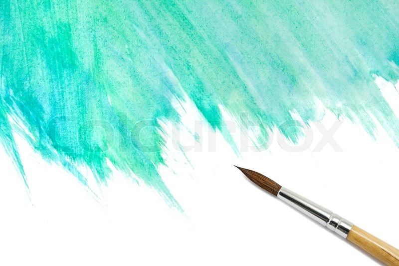 Ipad Retina Wallpaper Art Pain Brush: Abstract Watercolor Painted Background With Brush